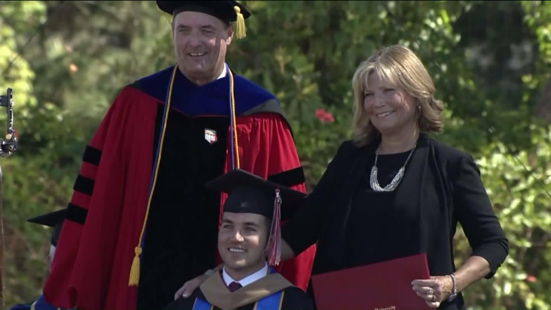 Mom Earns Honorary MBA After Attending Every Class with Quadriplegic Son