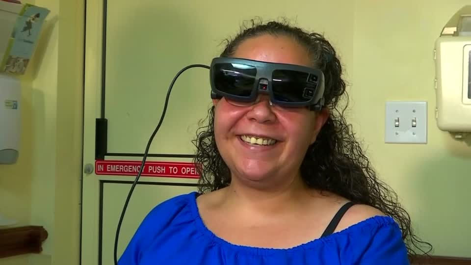 Headset helps the legally blind see nearly 20/20