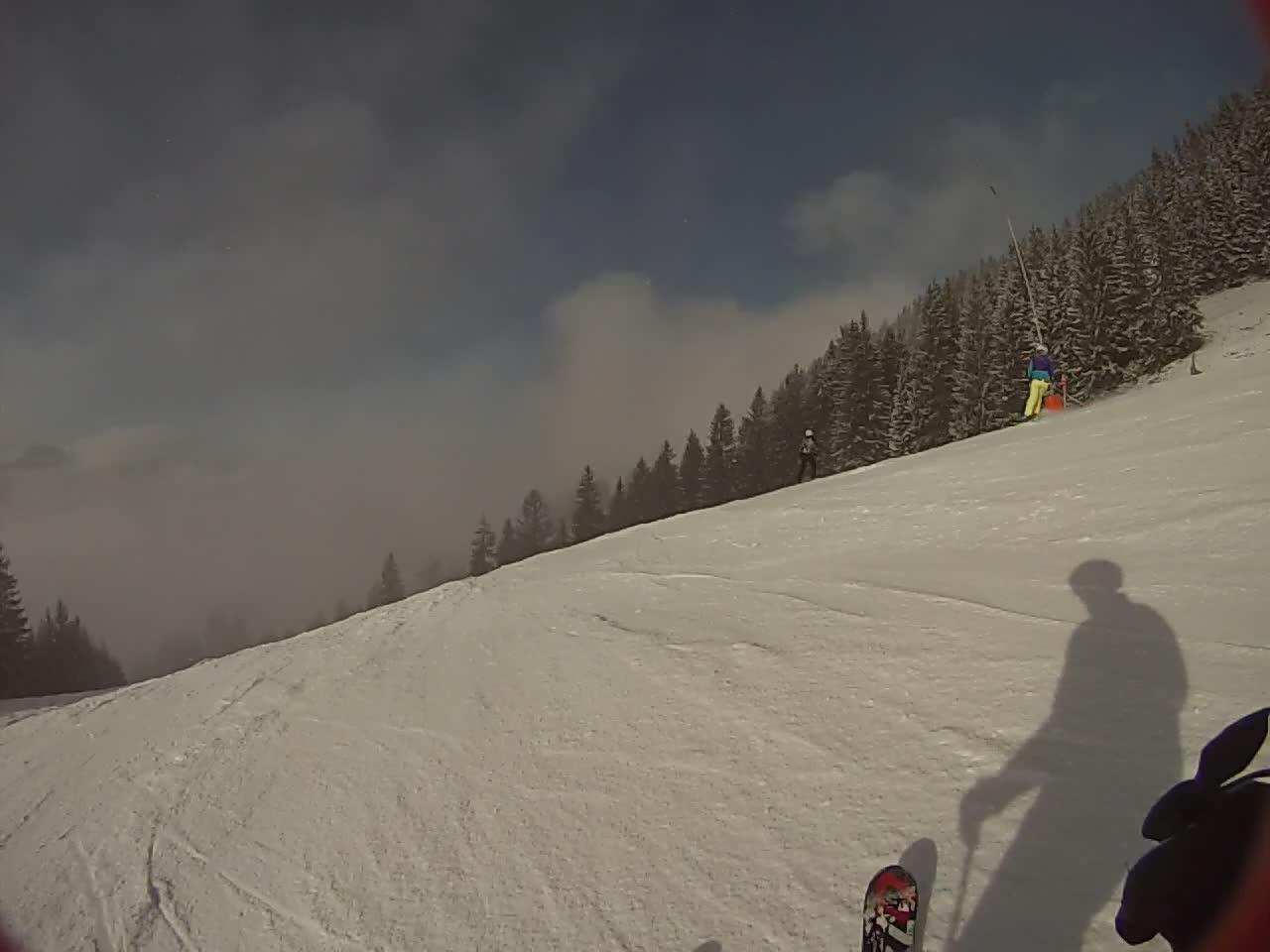 Downhill Ski Crash