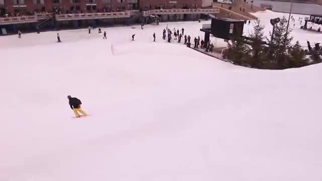 Double Backflip Crash - Skiing