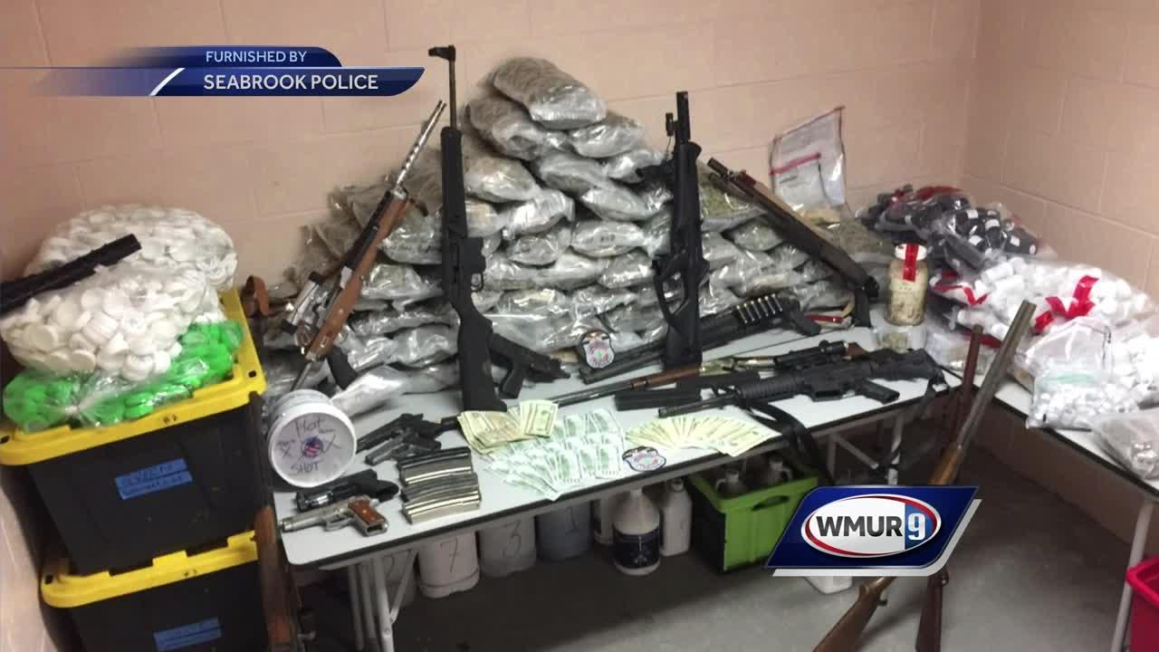 Guns, drugs, cash seized after fire in Seabrook