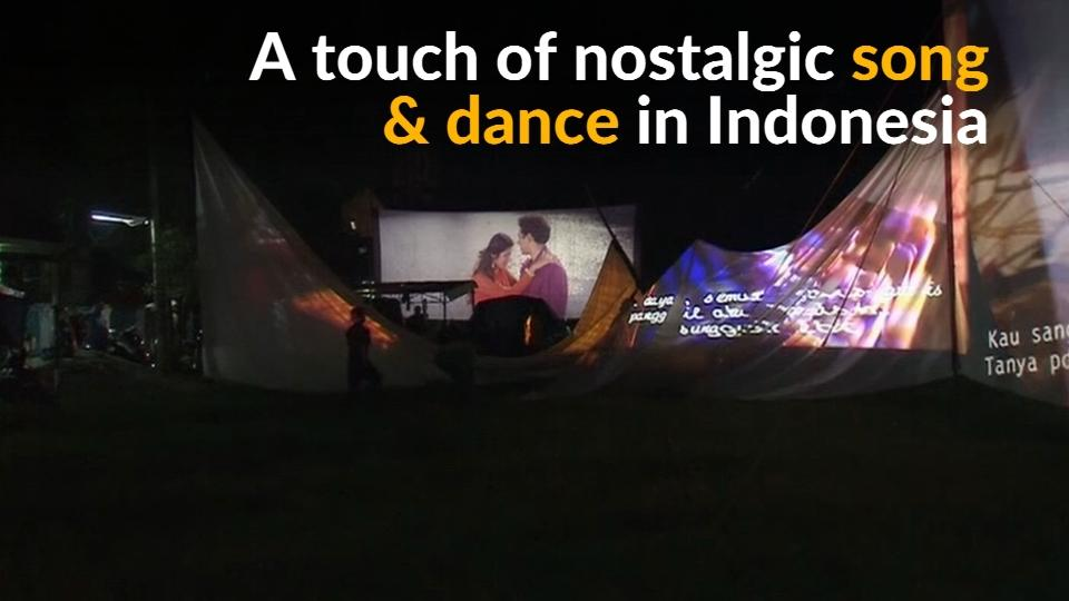 Indonesian mobile cinema and karaoke entertains poorer residents