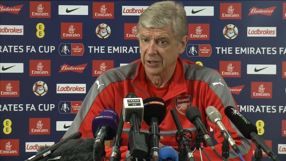 'We are not favourites' for the FA Cup final, says Wenger
