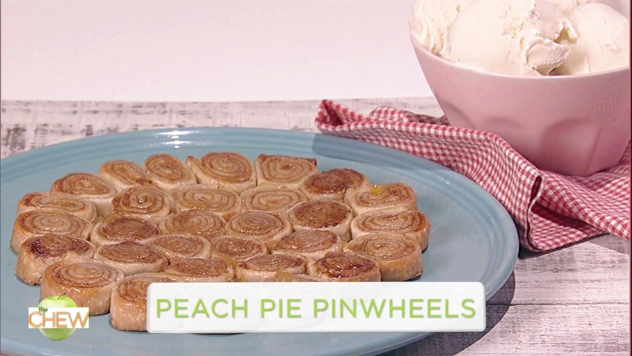 Carla Hall Makes Peach Pie Pinwheels