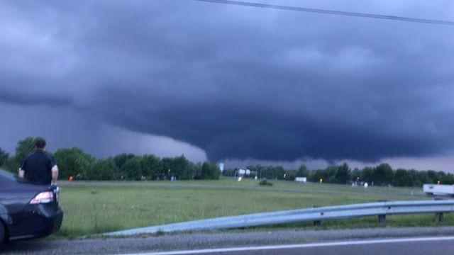 Large Funnel Cloud Travels Through Greene County, Ohio