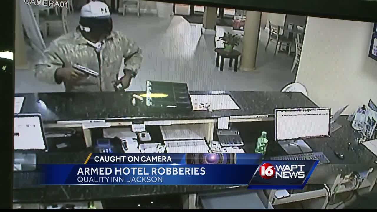 Hotel robbery caught on camera