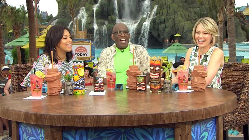 Sheinelle, Al and Dylan visit Volcano Bay: See how they got there