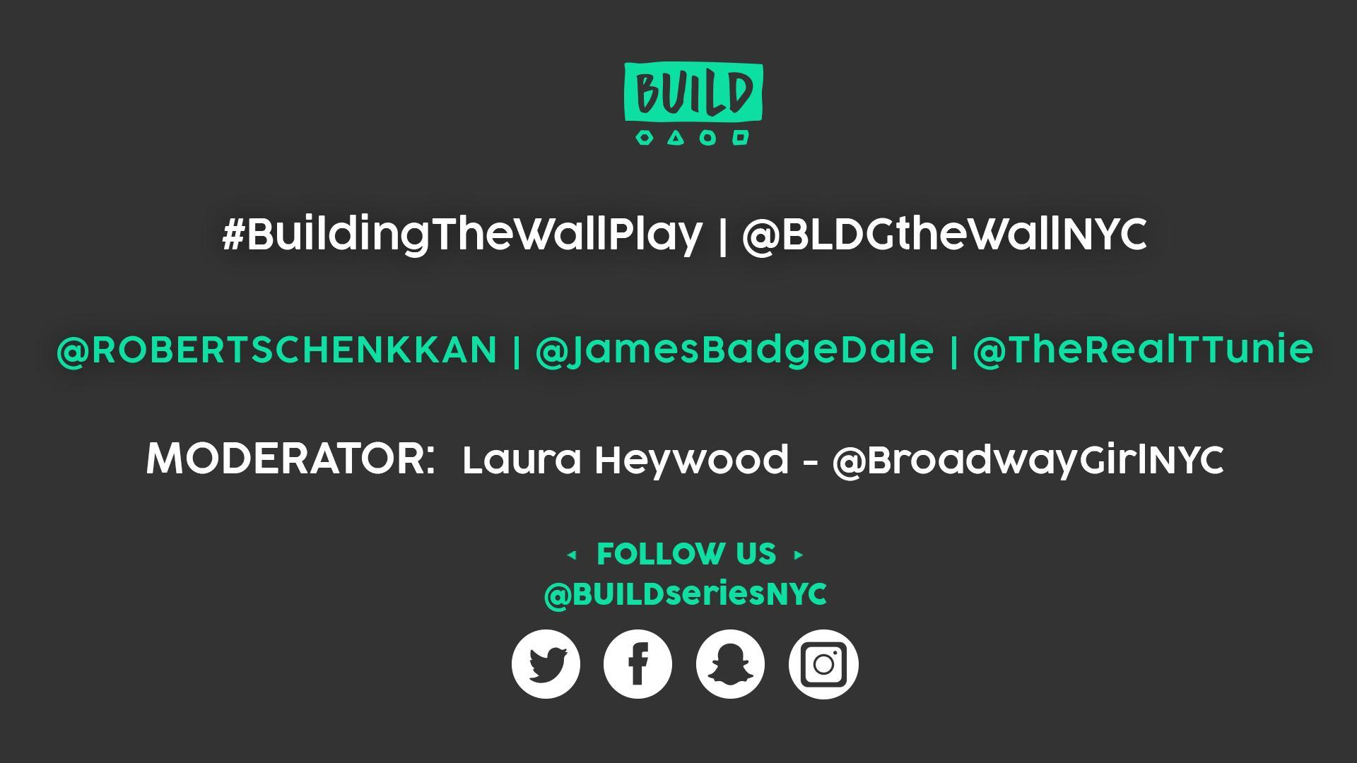 Robert Schenkkan, James Badge Dale & Tamara Tunie LIVE on BUILD Series