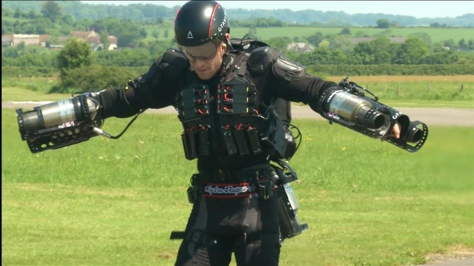 "Britain's ""Iron Man"" breaks his own jet-suit speed record"