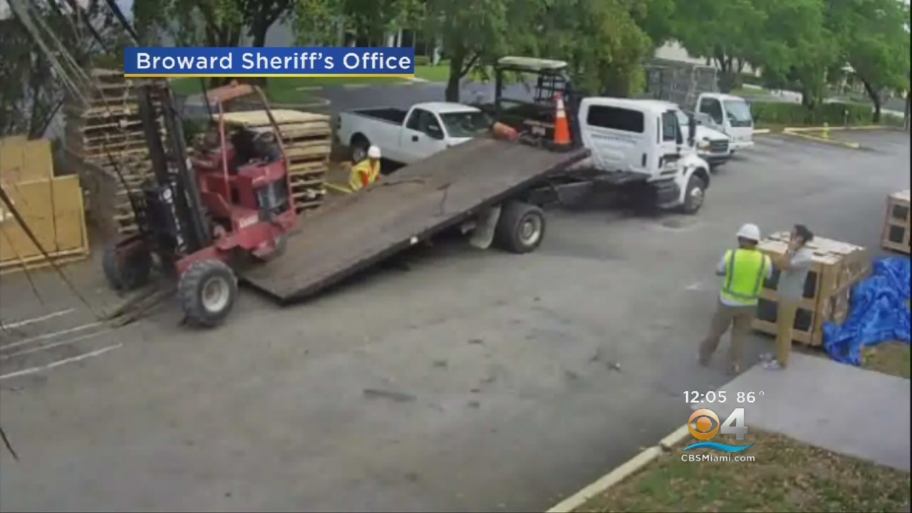 Video: Elaborate Attempt To Steal Forklift