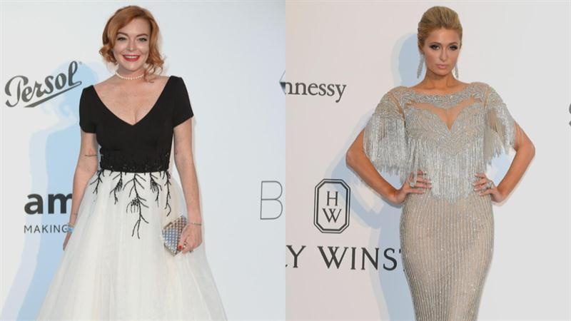Paris Hilton and Lindsay Lohan Together in Cannes