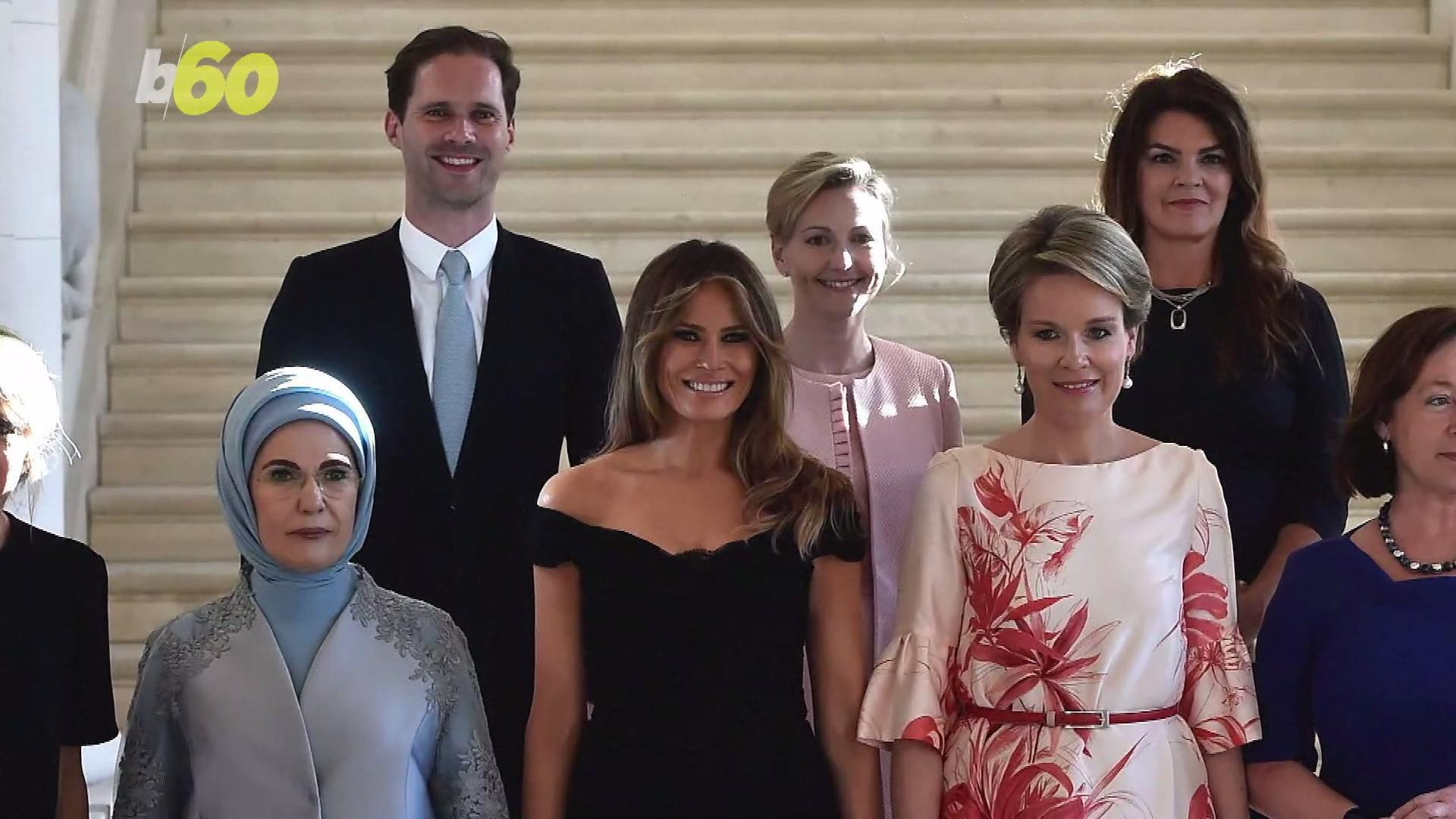 First Gentleman of Luxembourg Poses Among Spouses of World Leaders