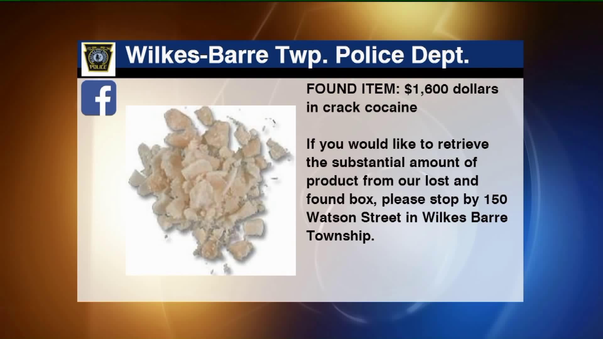 Police Department Asks Crack Owner to Claim Drugs in Facebook Post