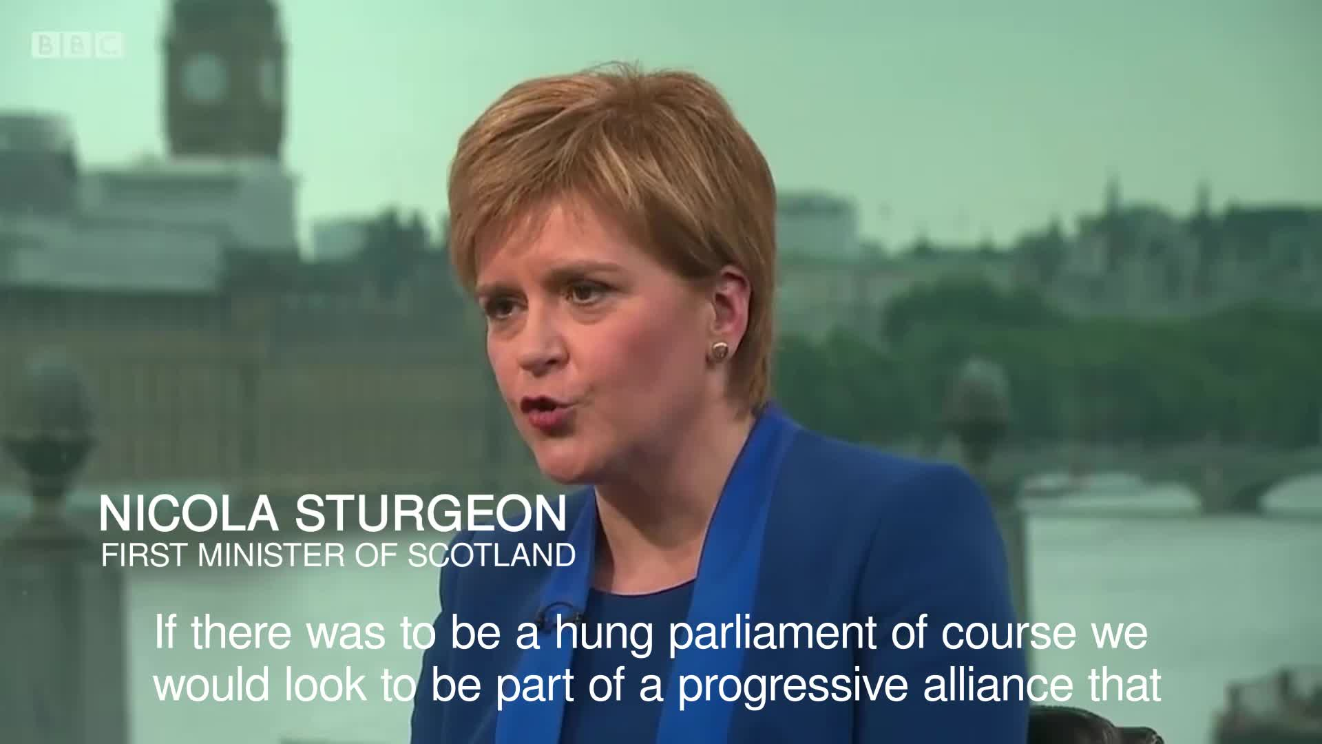 SNP would 'look to be part of progressive alliance' in hung parliament