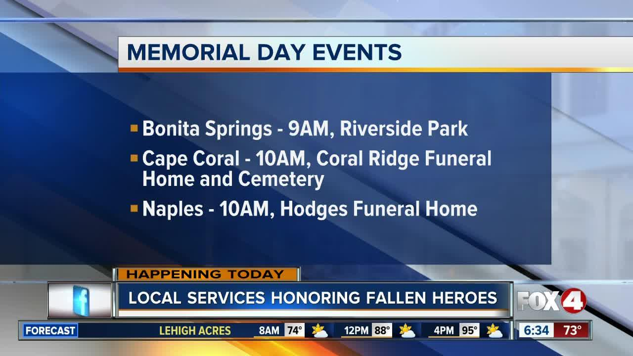 schedule of memorial day events in southwest florida fox 4 now wftx fort myerscape coral - Hodges Funeral Home At Naples Memorial Gardens