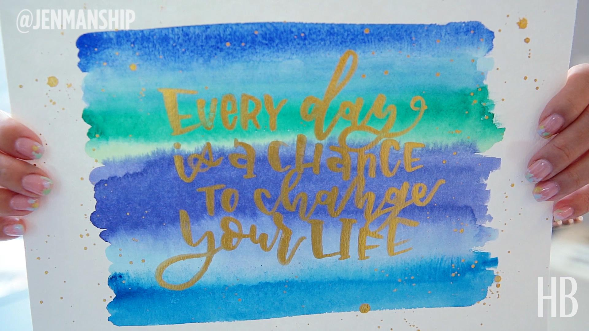 Watercolor Lettering With Jenmanship