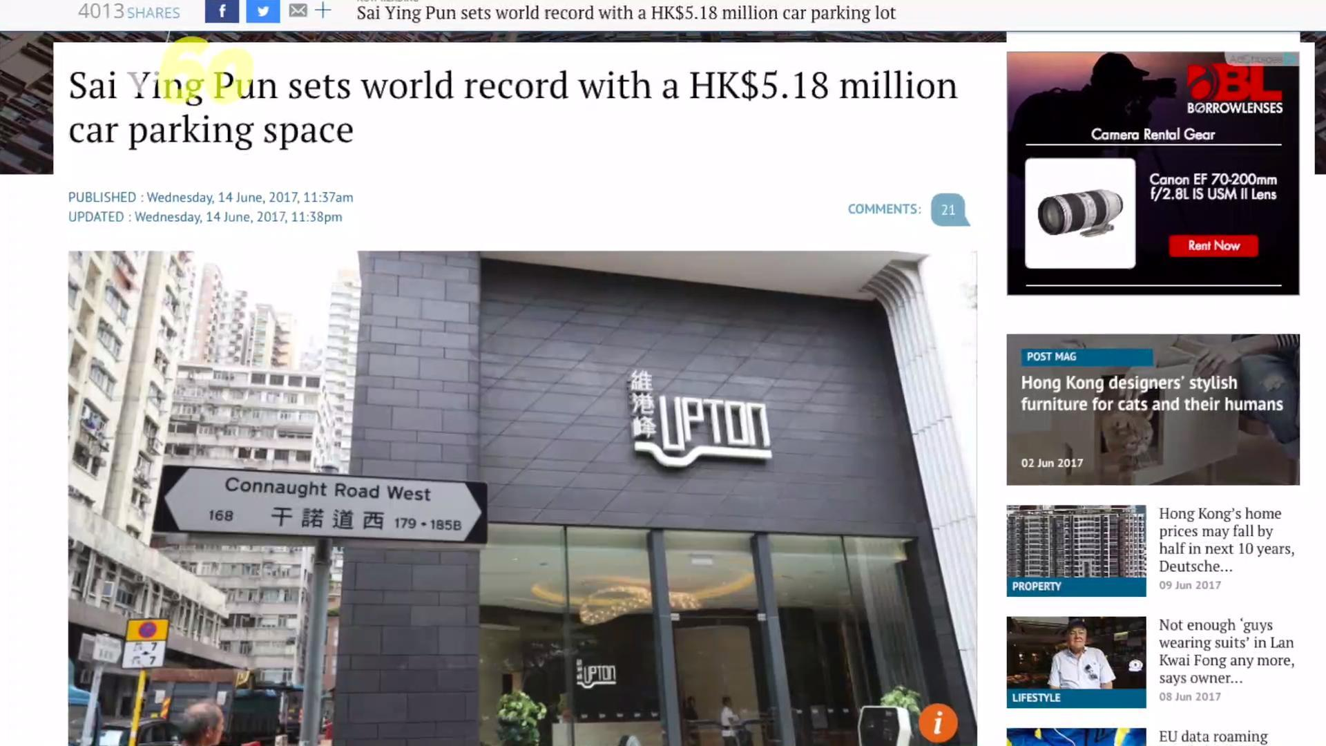 A Parking Space In Hong Kong Just Sold For A Record Breaking Price