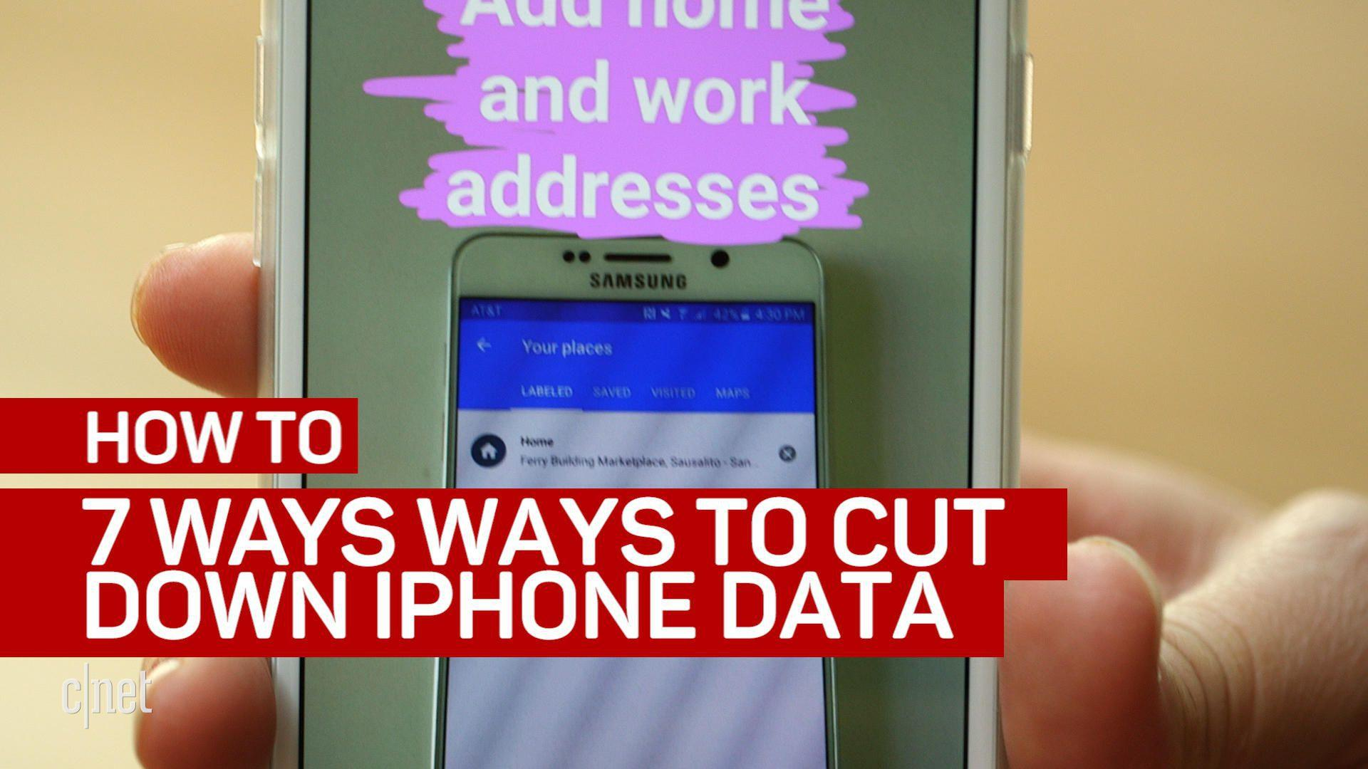 7 ways to cut down iPhone data