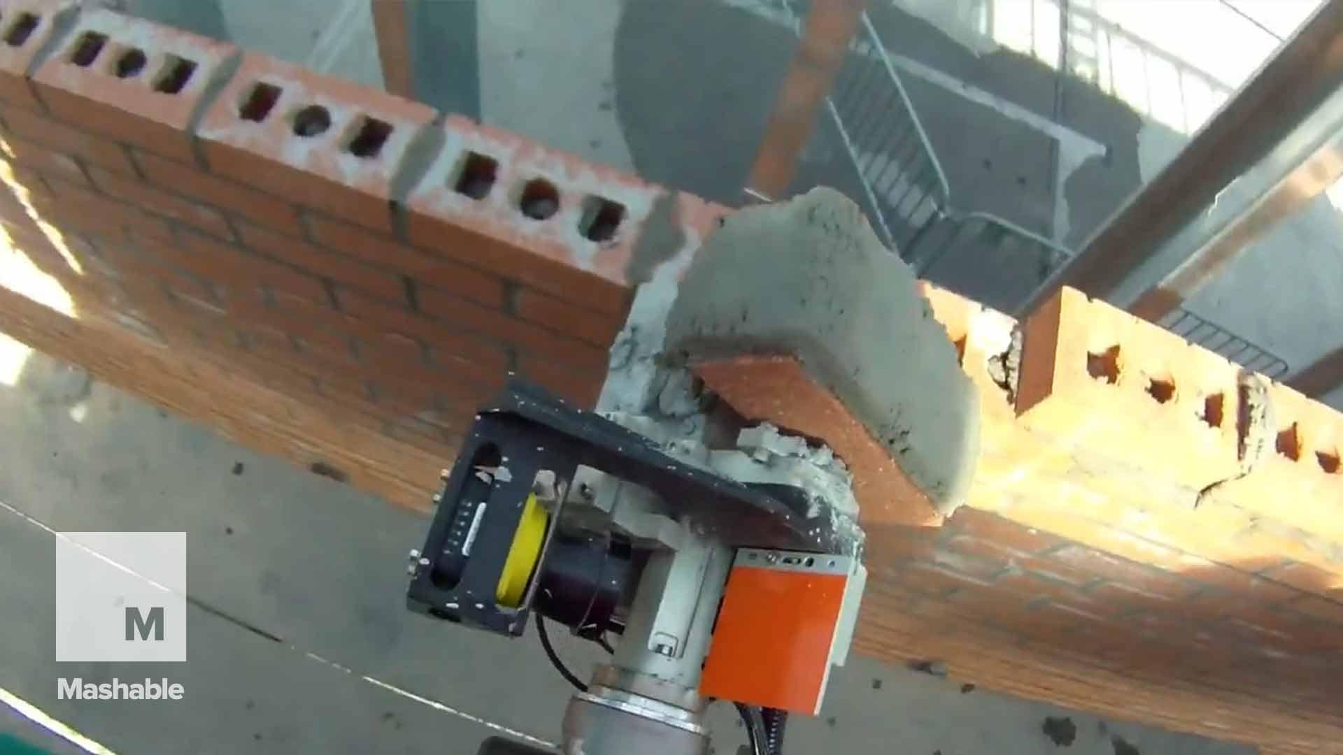 Construction could be revolutionized by a robot that lays 3,000 bricks a day