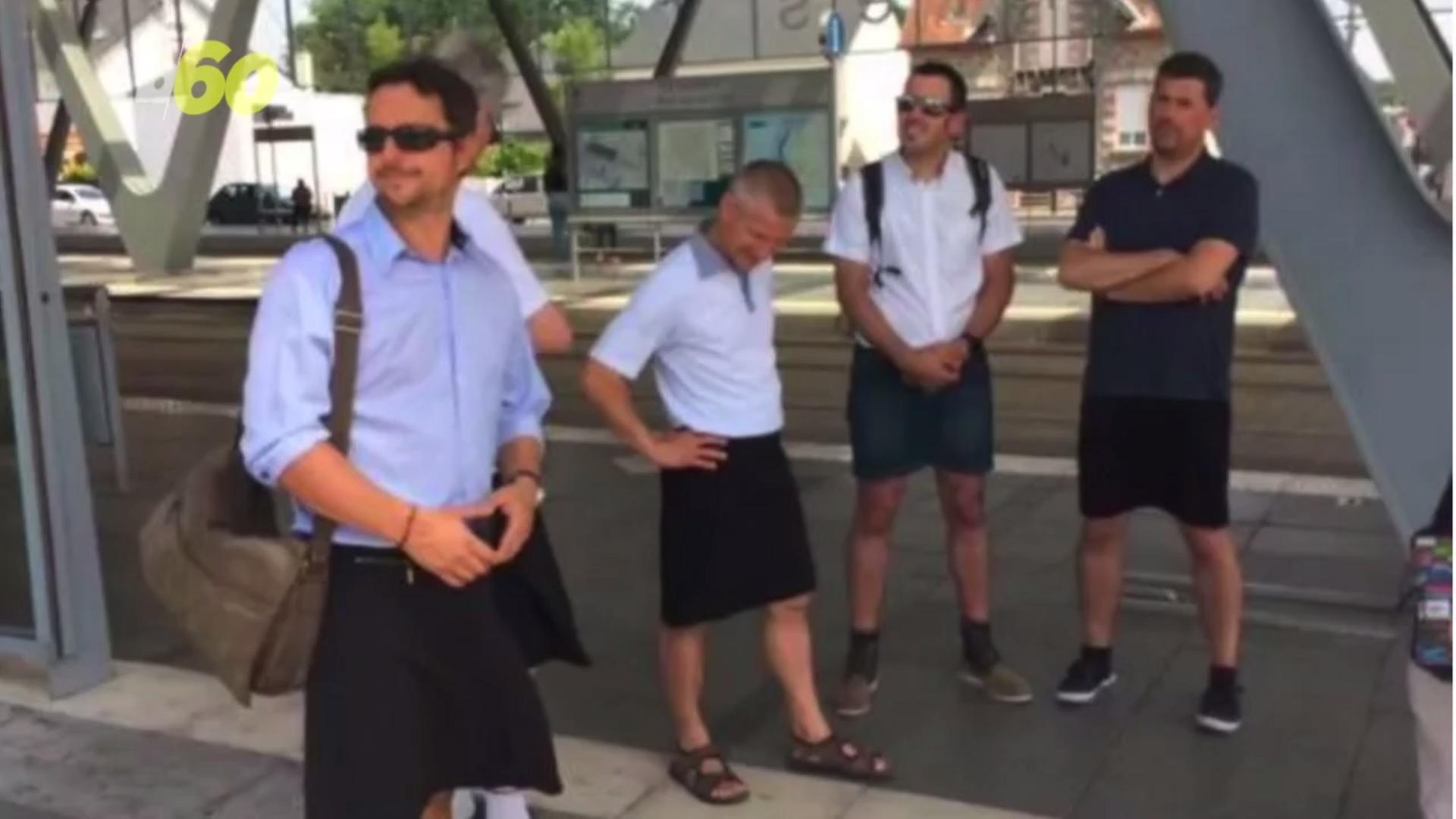 Why Men Who Are Banned From Wearing Shorts are Wearing Skirts Instead