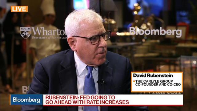 Carlyle's Rubenstein on Asia Strategy, U.S. Economy, Fed