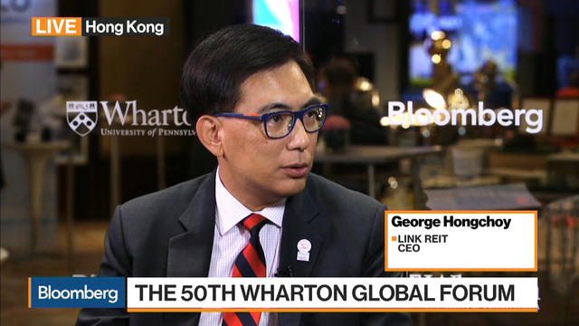 Link Reit CEO Sees Everyone Jealous of China Slow Growth