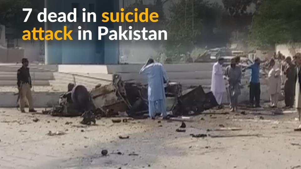 Suicide car bomber kills at least seven in Pakistan's Quetta