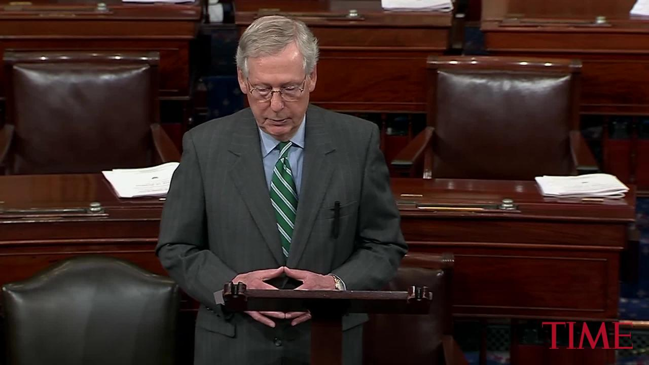 Mitch McConnell and Senate Republicans Reveal Their Largely Guarded Health-Care Bill