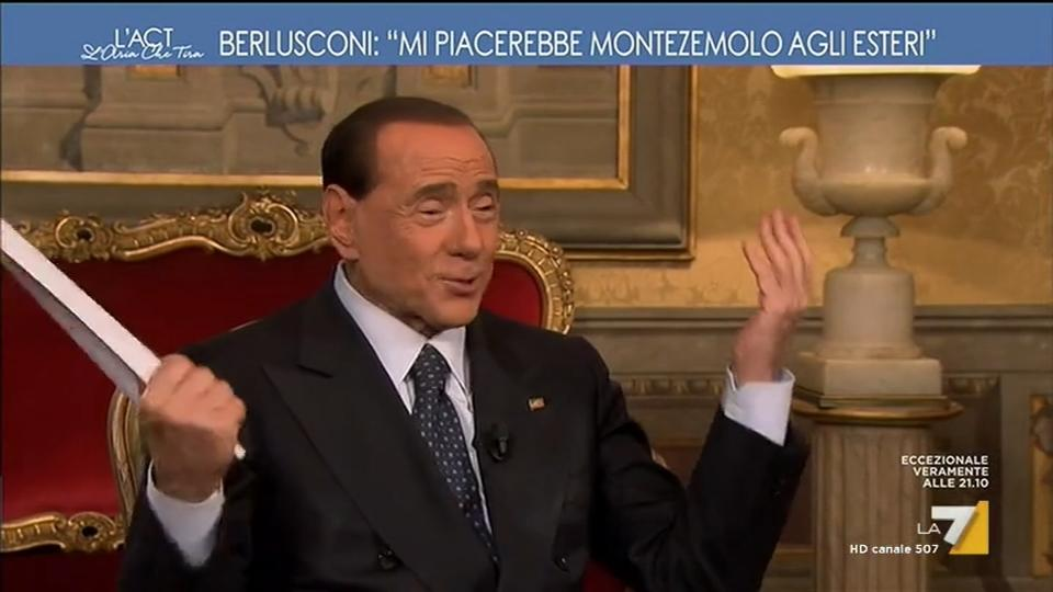 What does Italy's Berlusconi like about Trump? His wife.