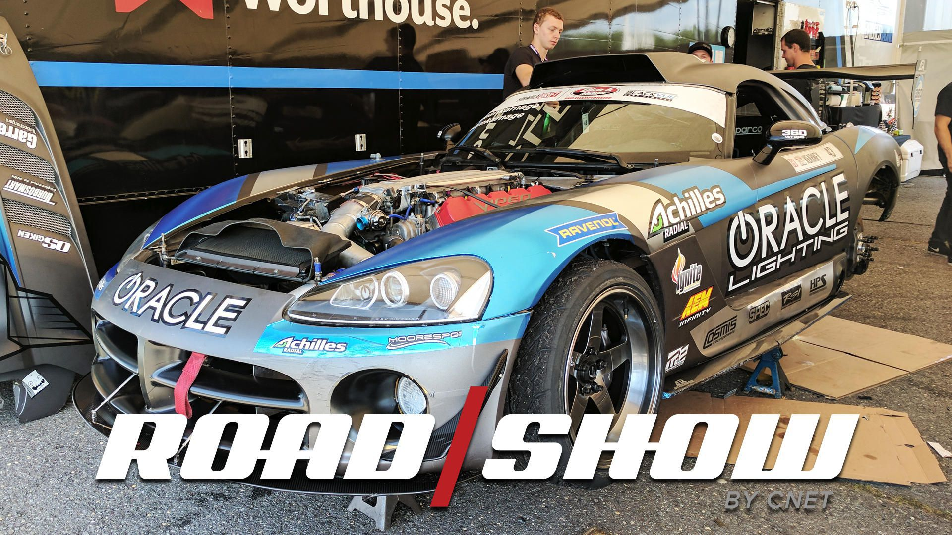 Dean Karnage Kearney drifts this 1,150 HP supercharged Dodge Viper