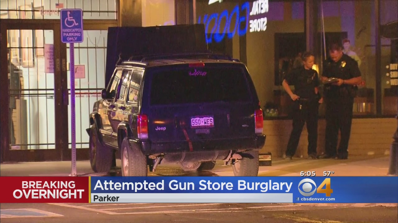 Jeep Driven Into Gun Store, Suspect On The Loose