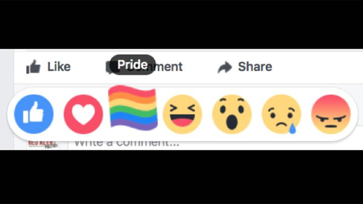 Facebook 'Pride' Reaction for Select Users
