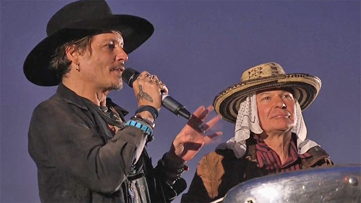 Johnny Depp Slams Trump At Glastonbury