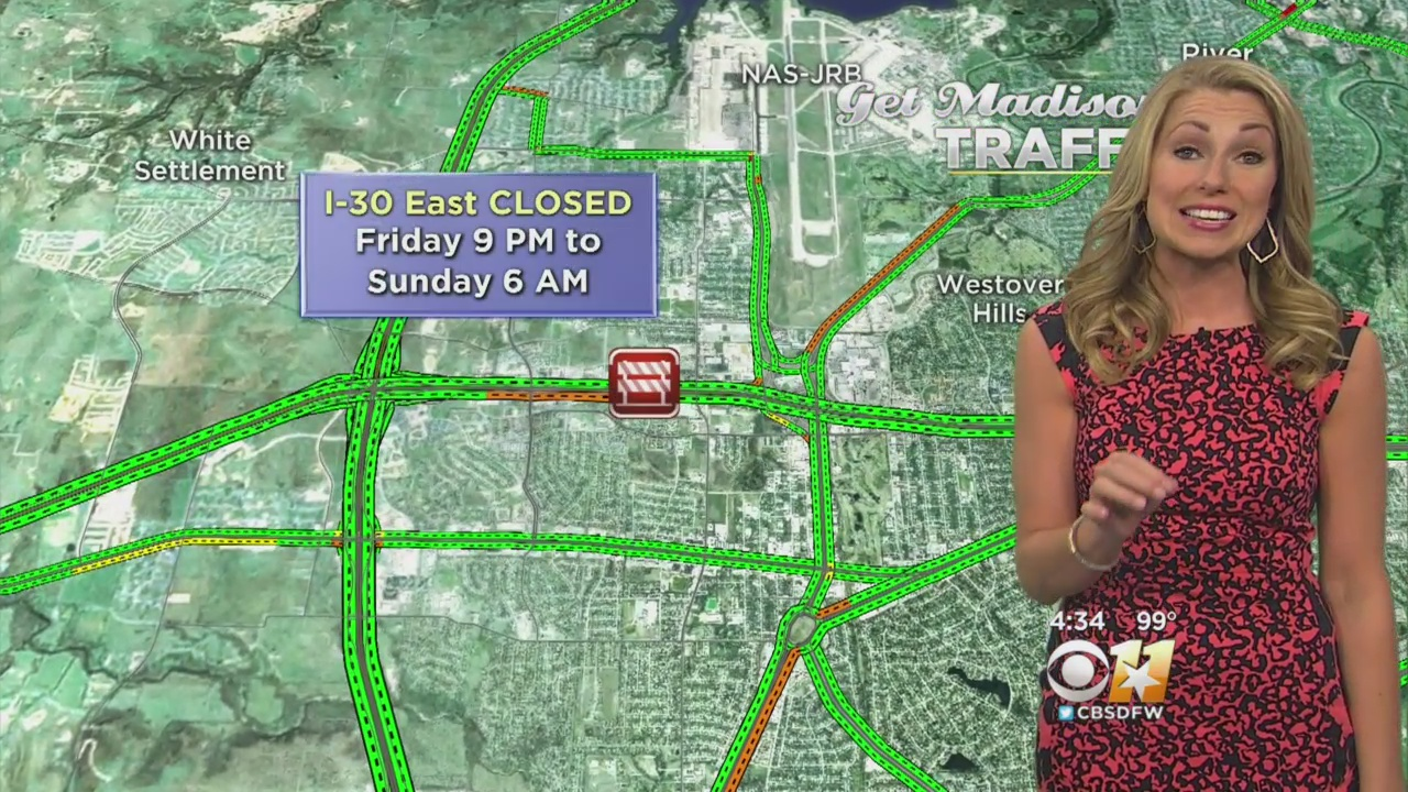 Part Of I-30 In Fort Worth Closed This Weekend