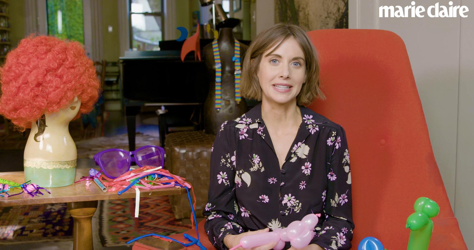 Alison Brie on her (brief) clowning career