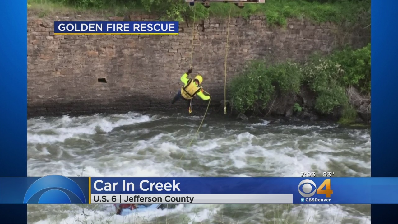 Car Will Stay Submerged In Creek Due To High Water