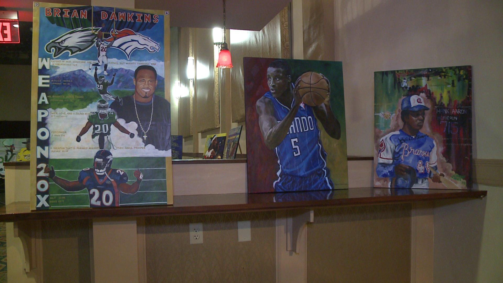 Virginia Father-Son Duo Uniquely Paint Sports Athletes
