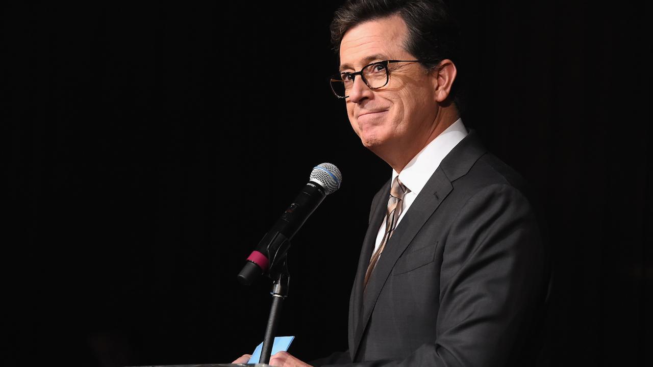 Stephen Colbert Tweets at Donald Trump and Mulls 2020 Run