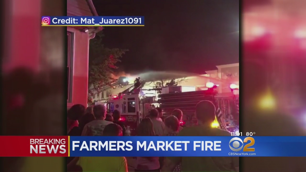 Fire Breaks Out At Farmers Market In Glendale, Queens