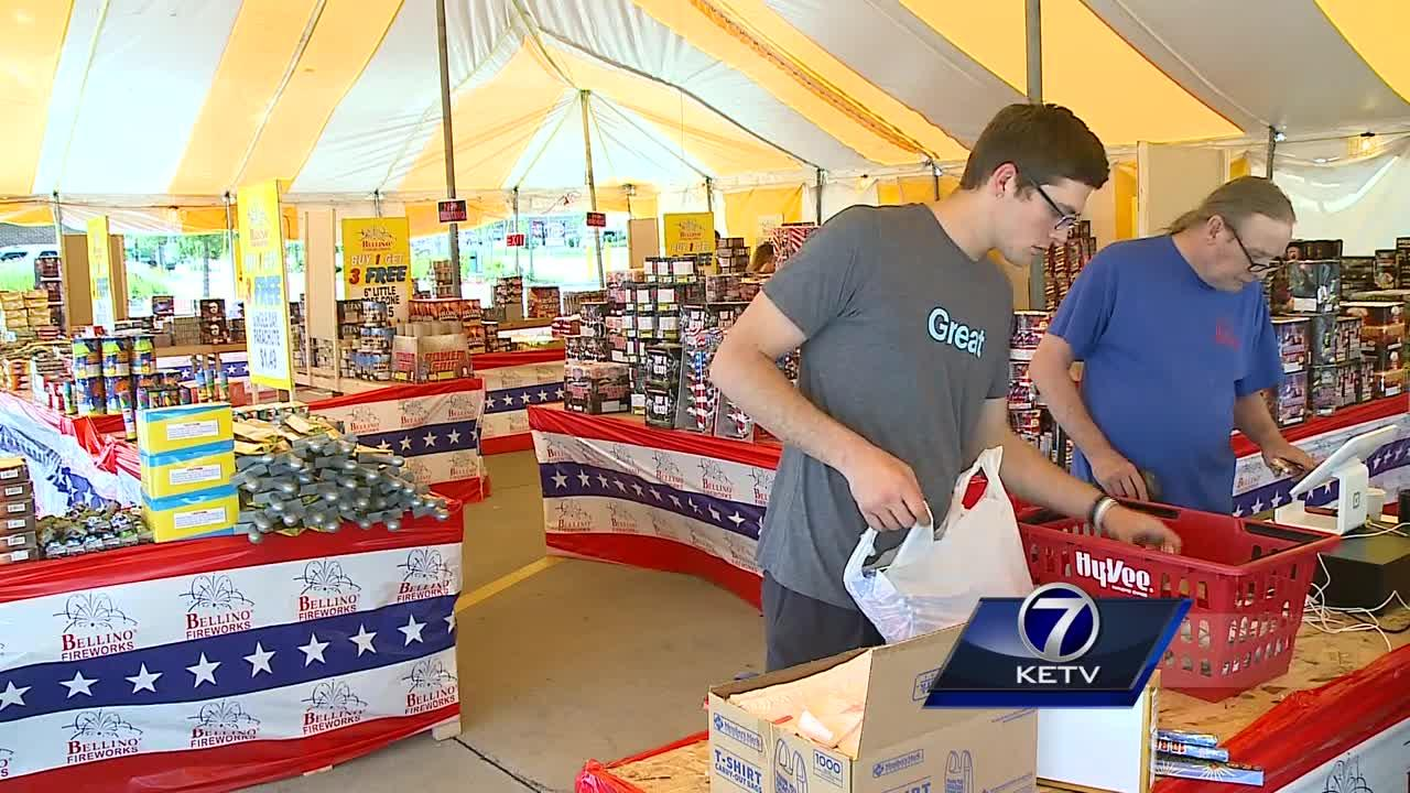 Fireworks stands open in Nebraska