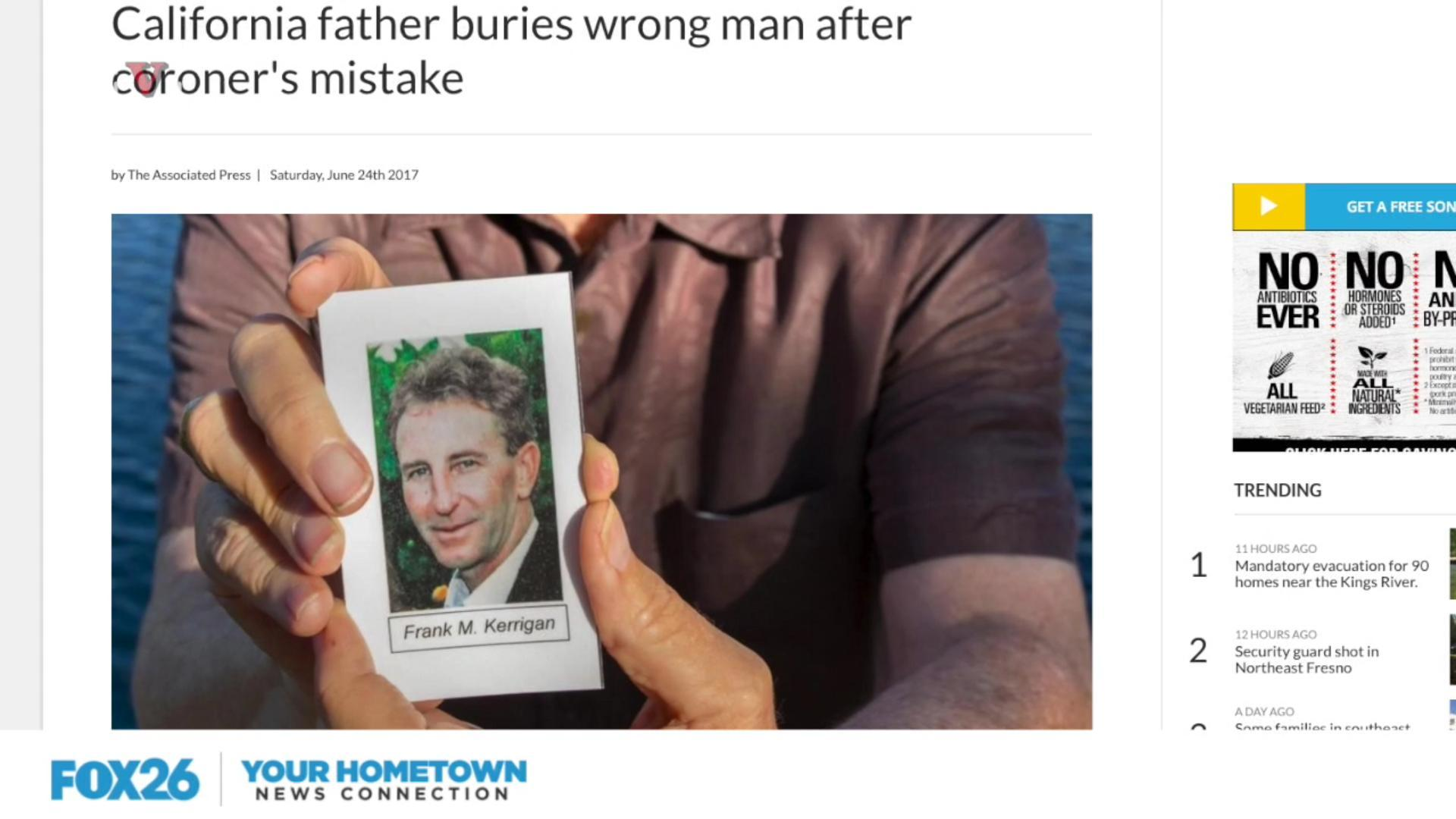 Family Buries Wrong Person Due To Coroner's Mistake
