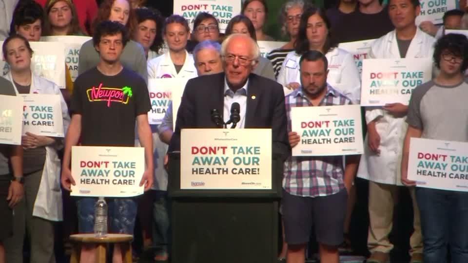 GOP healthcare bill an 'immoral piece of legislation': Sanders