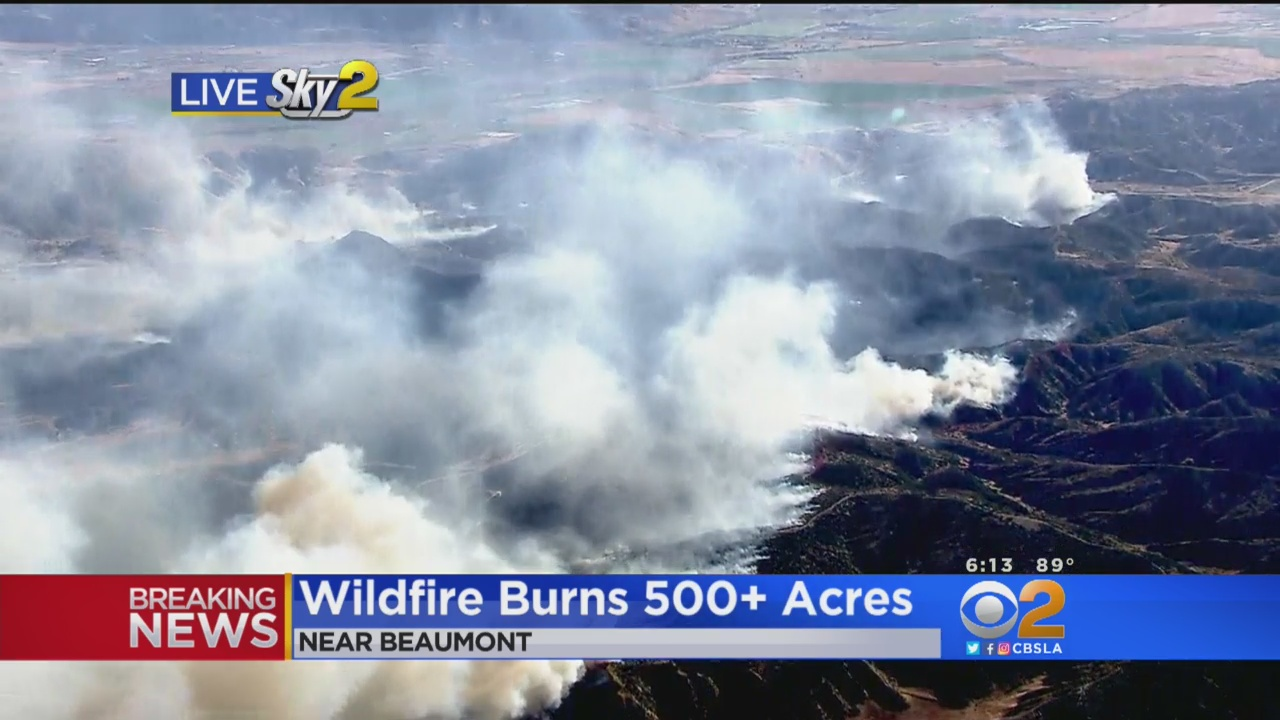 Wildfire Prompts Voluntary Evacuations Near Beaumont