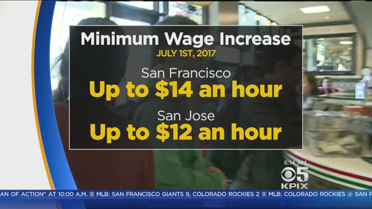 MINIMUM WAGE: Minimum wage goes up in San Francisco and San Jose on July 1st