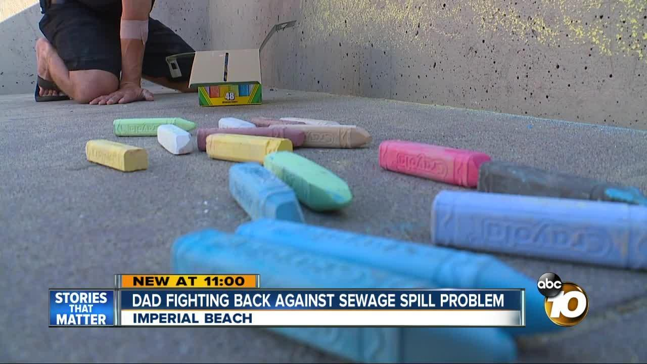 Dad fighting back against sewage spill problem