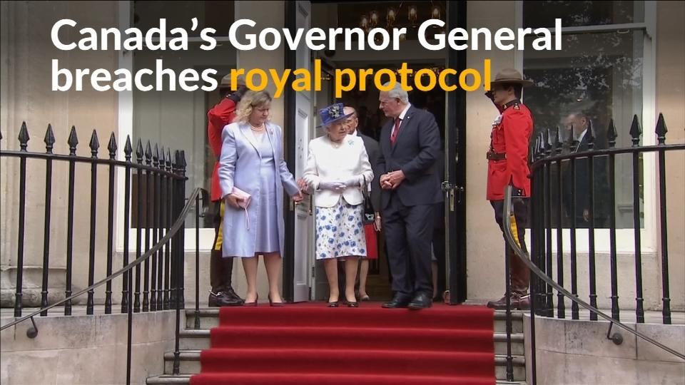 Canada's Governor General breaches royal protocol
