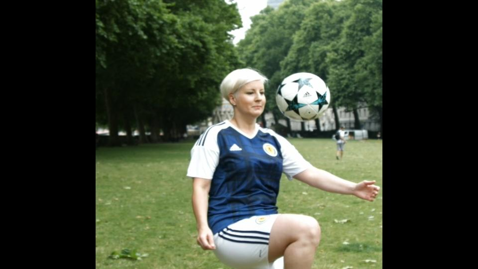 British MP performs football tricks in support of Scotland women's team
