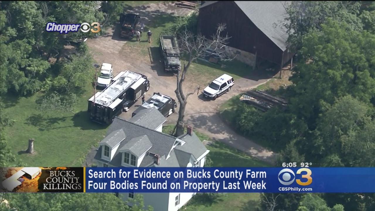 Investigators Search Bucks County Farm For Evidence
