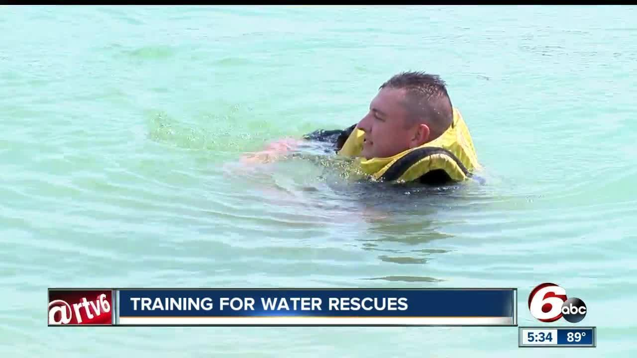 Carmel Fire Department trains for water rescues