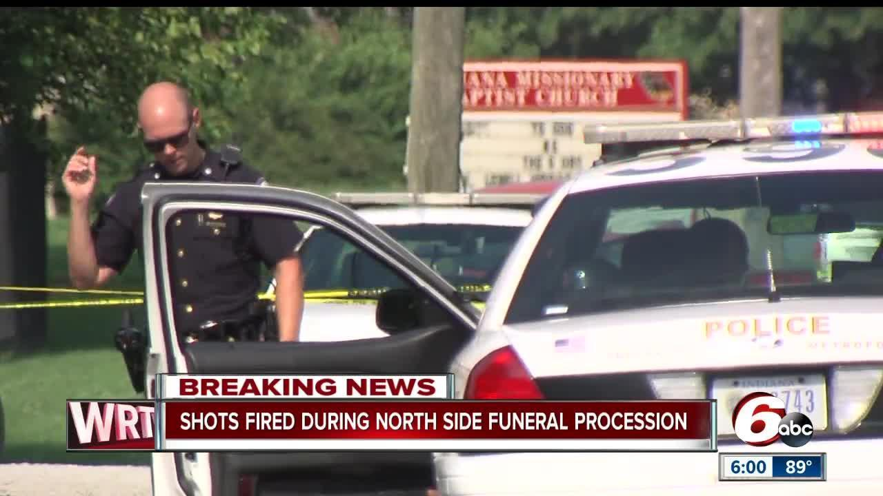Three shot during funeral on Indy's north side